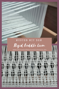 Muster weben am Rigid heddle loom, Leno, Brooks Bouquet, Danish medaillons und vieles mehr #rigidheddleloom #rigidheddleweaving #handweben #handgewebt