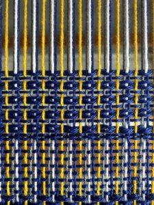 Kurs weaving with two heddles - Punkte